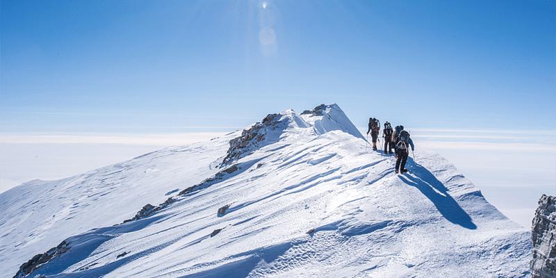 Antarctica mountaineering