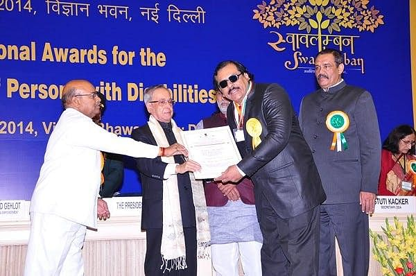 ‍Receiving the prestigious National Award for the Empowerment for Persons with Disabilities under the best self-employed resident category