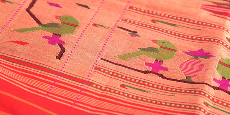 A lot of patience, talent and teamwork goes into each handloom saree