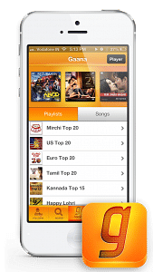 Gaana com launches Mobile Apps for Android, iOS, Blackberry