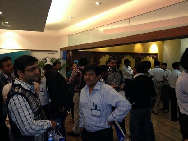 Entrepreneurs at the meet