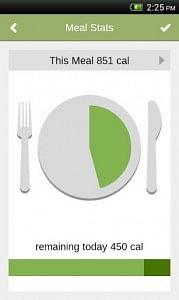 Food habits meal stats