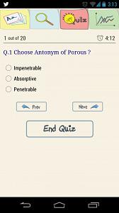 Quiz view