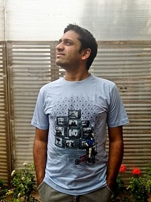 Bharath Madhiraju in a Samthana T-shirt