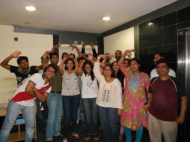 The Fusion Charts Team in Kolkata Having Fun