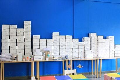 Gyan filled boxes