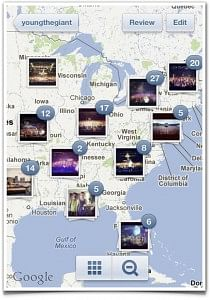 Instagram allows you to see locations where photos were taken - another use case of LBS