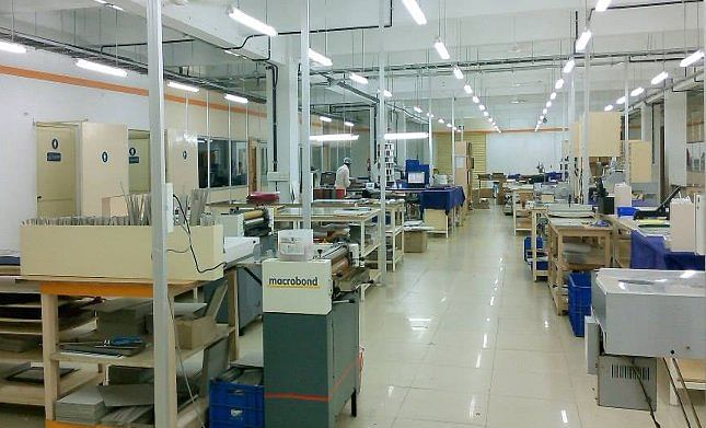 The new Canvera production unit in Bangalore