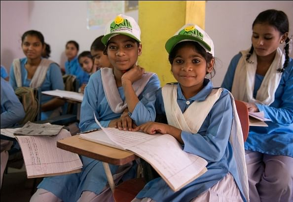 Girls go through their daily lessons at ME centre in Khora Colony, near Ghaziabad
