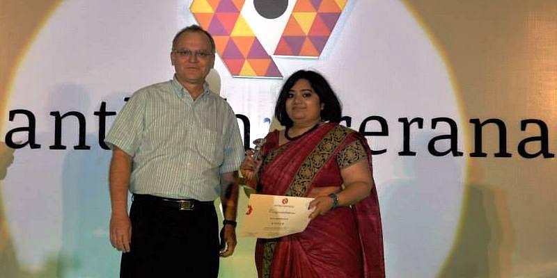 Jeeva won at TiE Bangalore, Anthah Prerana