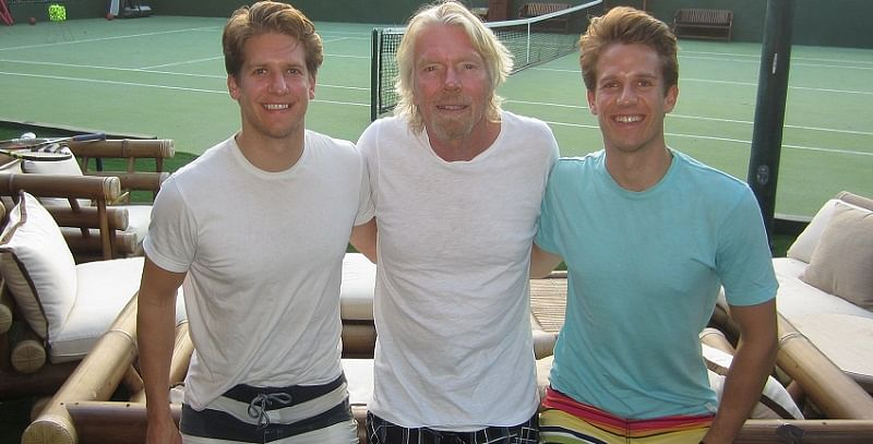 Fabian Heilemann, Sir Richard Branson and Ferry Heilemann