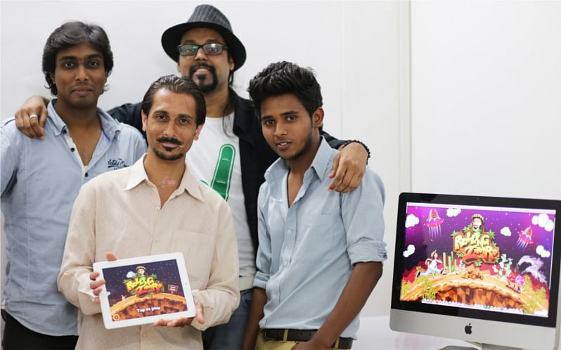 Xaxist Arts Team (Anup in the black hat)