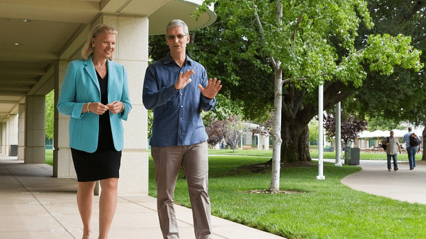 IBM's CEO  Ginni  & Apple's CEO Tim Cook
