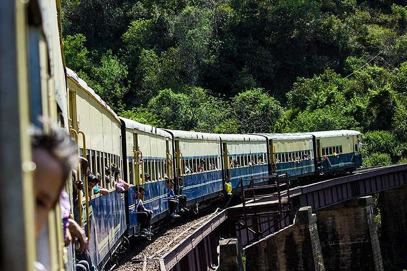 Kangra valley Toy Train, six hours of pure bliss.