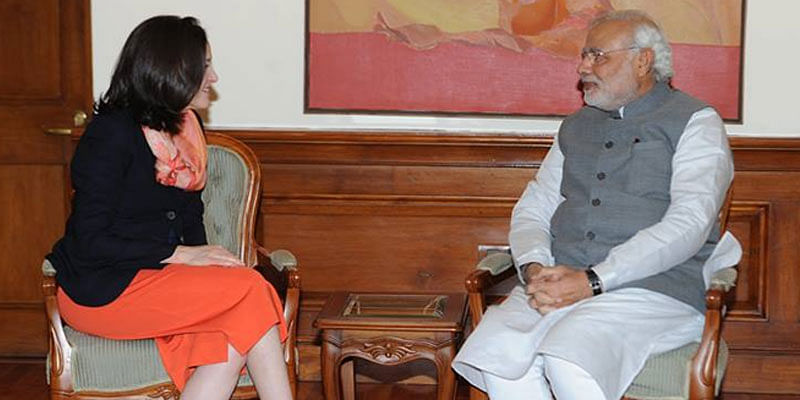 Sheryl Sandberg-Narendra Modi