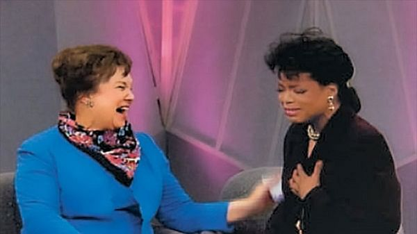 Oprah with Mrs. Duncan on her show
