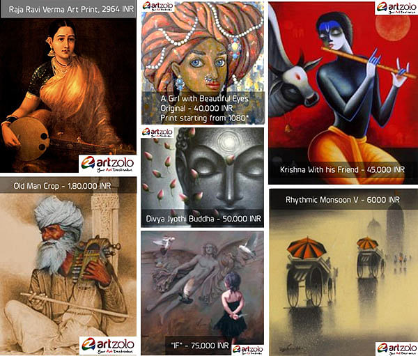 Paintings by artists