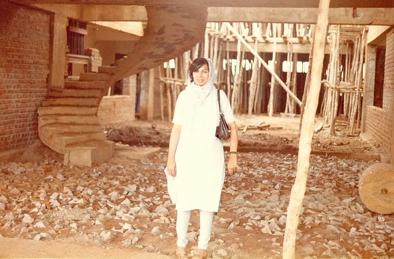 Kiran at Biocon construction site