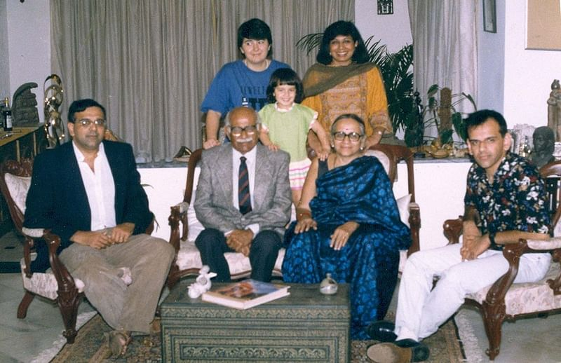 Kiran with her family