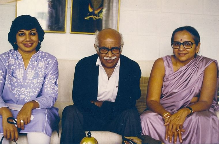 Kiran with her parents