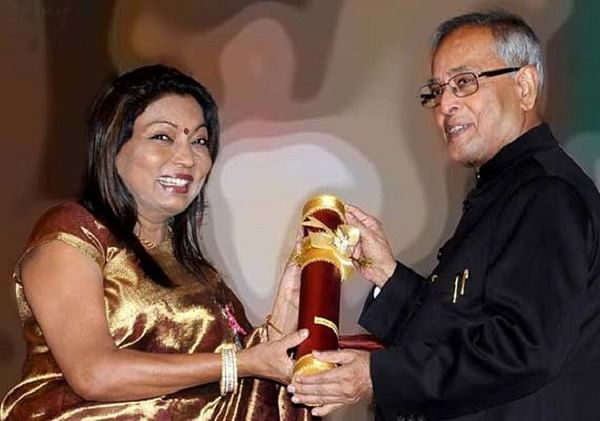 Being awarded the Padma Shree: Image source