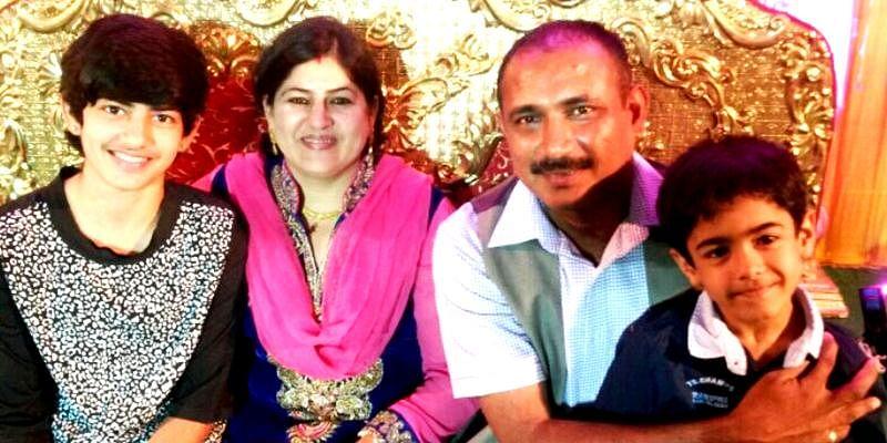 Mukesh Kumar with his family