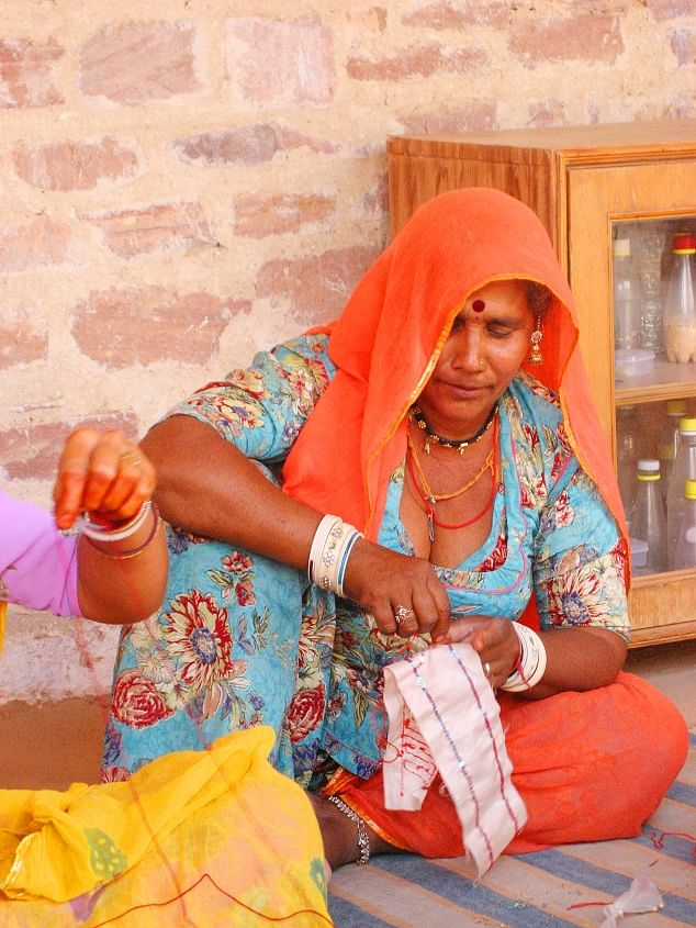 A local artisan in Gujarat