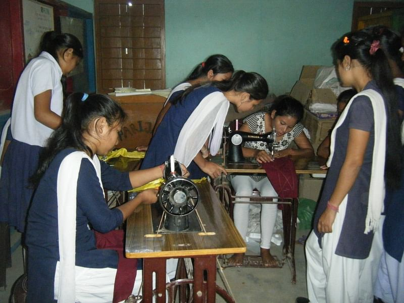 Sewing lessons for girls at the Academy