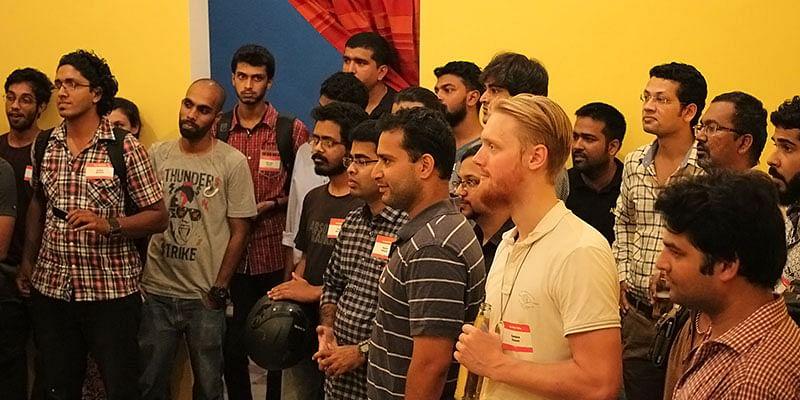 A still from a StartupGoa.org meetup