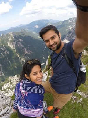 Anuja-and-Gaurabh-atop-the-Julian-Alps