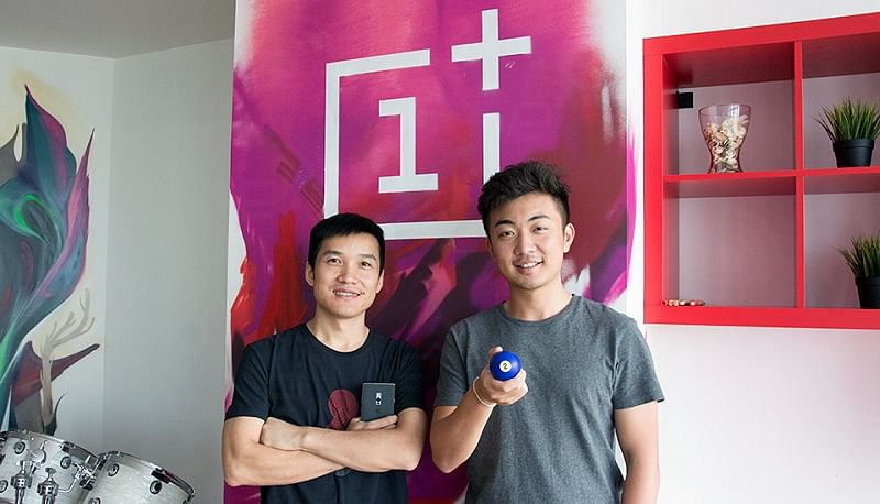 Pete Lau with his OnePlus co-founder Carl Pei