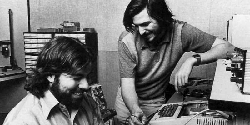 Steve Jobs and Steve Wozniak; two entrepreneurs who started from a garage.