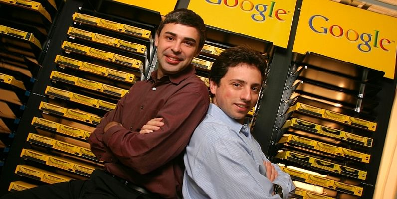 Larry Page(L) and Sergey Brin(R); Source : theguradian