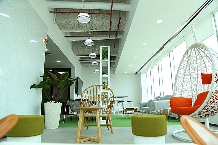 Collaboration spaces at LinkedIn's new office - Bengaluru