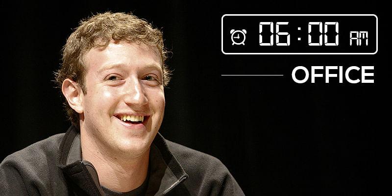 Mark Zuckerberg morning schedule