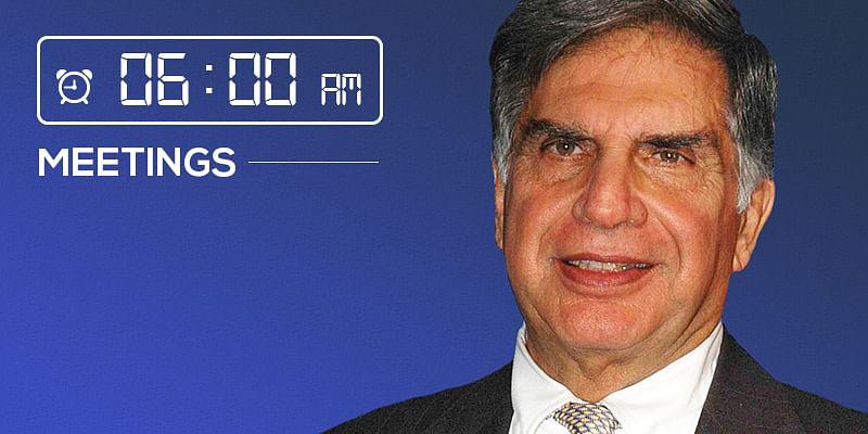 Ratan Tata morning schedule