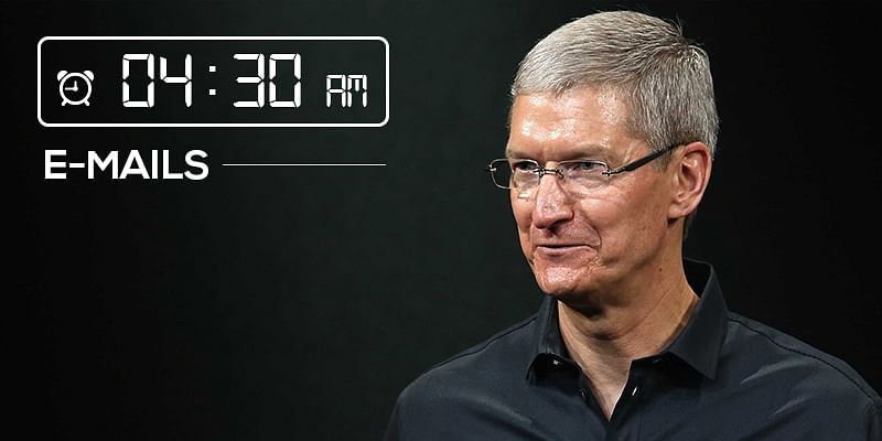 Tim Cook morning schedule