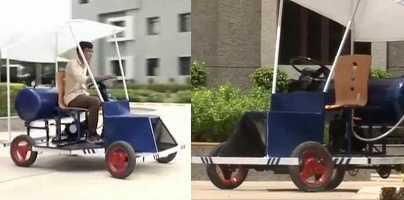 Car That Runs On Air >> Students Of A Rajkot College Have Developed A Car That Runs
