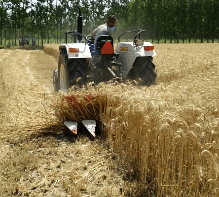 Farmers with the equipments