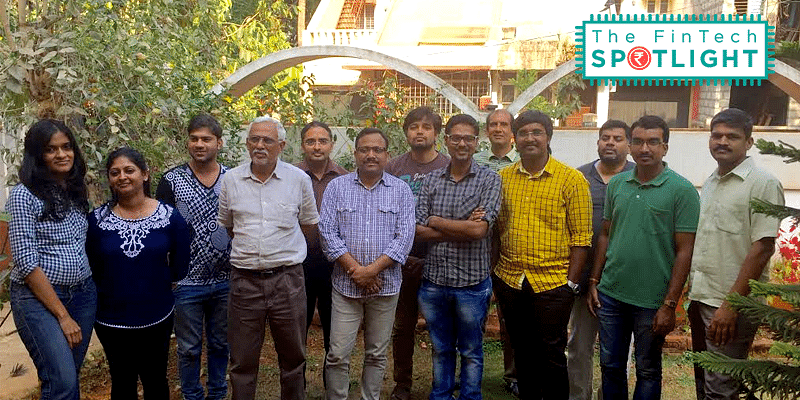 FonePaisa's team with founders (left to right) Sharad Hegde (4th from left) Ritesh Agarwal (6th from left) C S Prasad (9th from left).