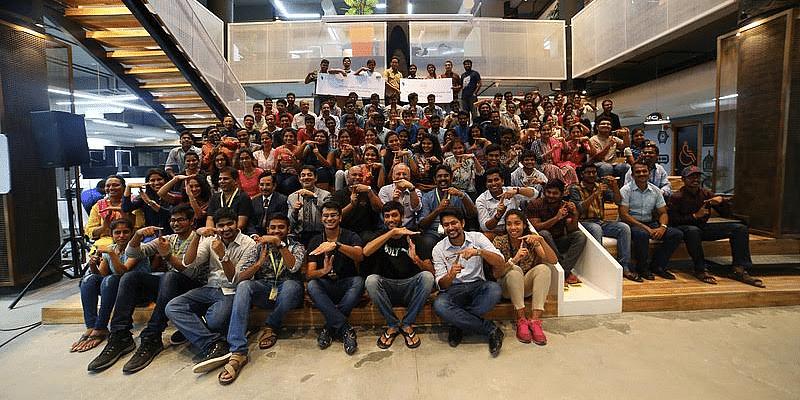 The teams in Hyderabad hackathon.