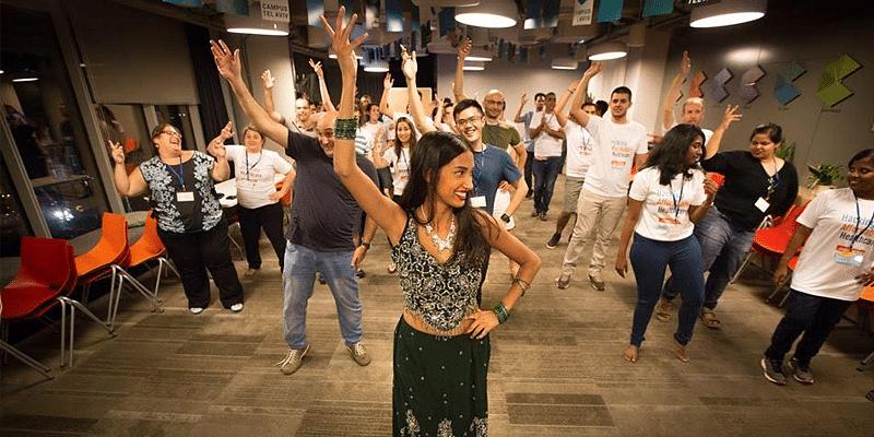 Bollywood dance powered up the hackathon in Tel Aviv (Photo credit Sára Salamon Photography)