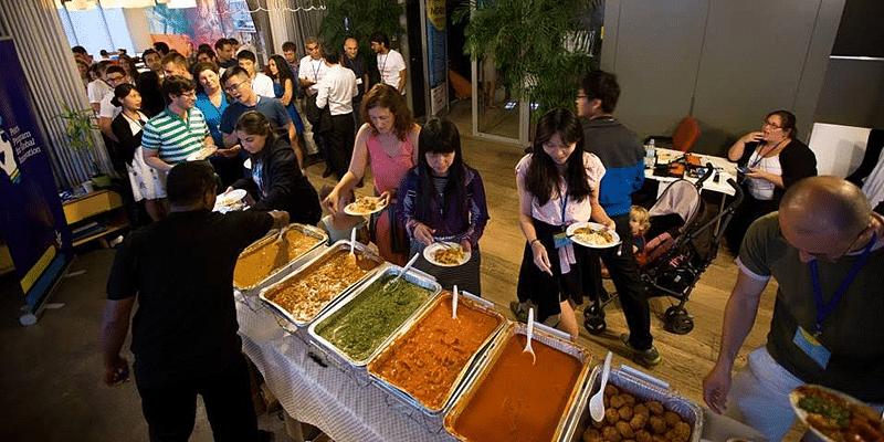 The Indian spread in Tel Aviv (Photo cr.edit Sára Salamon Photography)