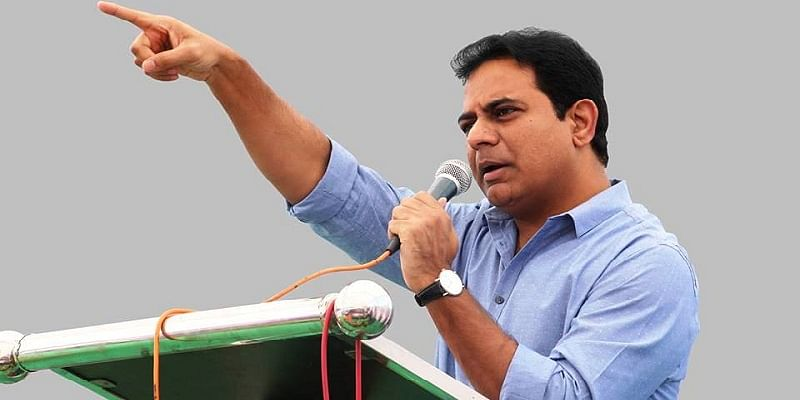K. T. Rama Rao, Telangana minister for IT and industries