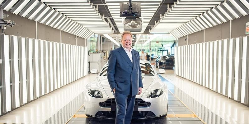 Andy Palmer at the assembly line (photo provided courtesy of Aston Martin team)