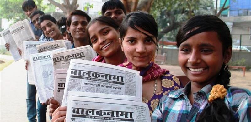 Meet the slum children of India who run their own newspaper