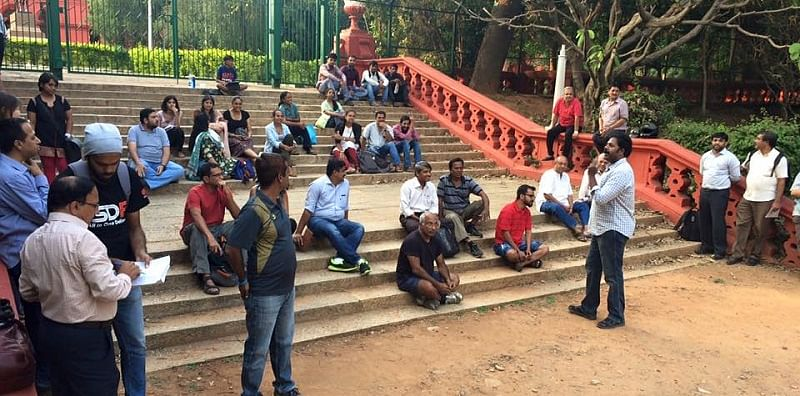 Volunteers at the Cubbon Park