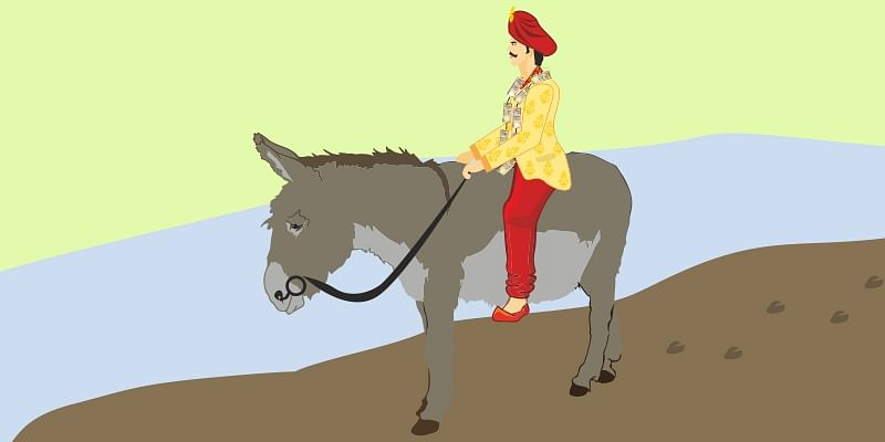groom-on-a-donkey