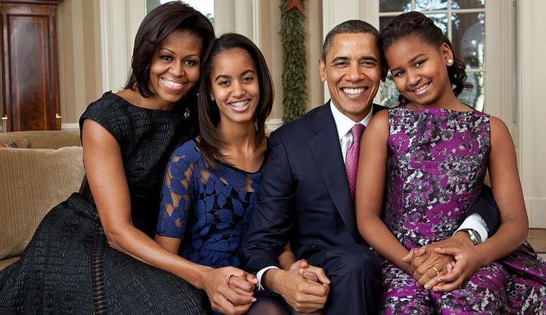 The Obama Family, Source : Wikipedia
