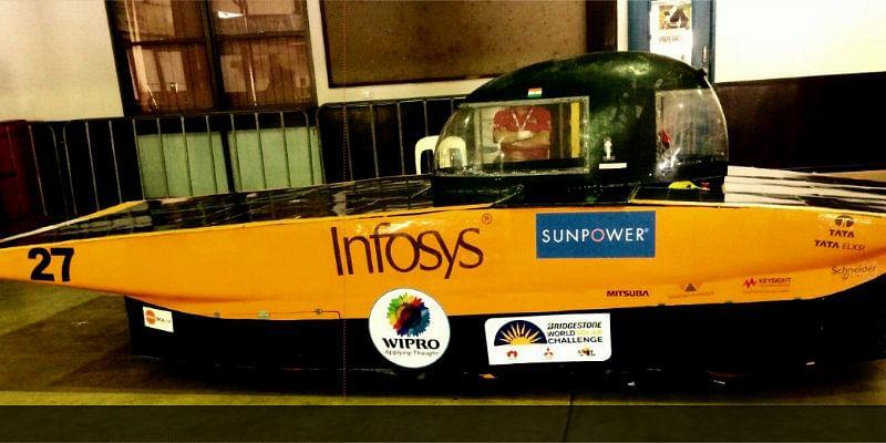 Soleblaze built by RVCE Solar Car Team